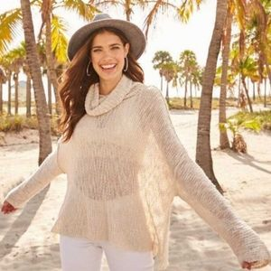 Altar'd State Cowl Neck Beige Long Sleeve Sweater